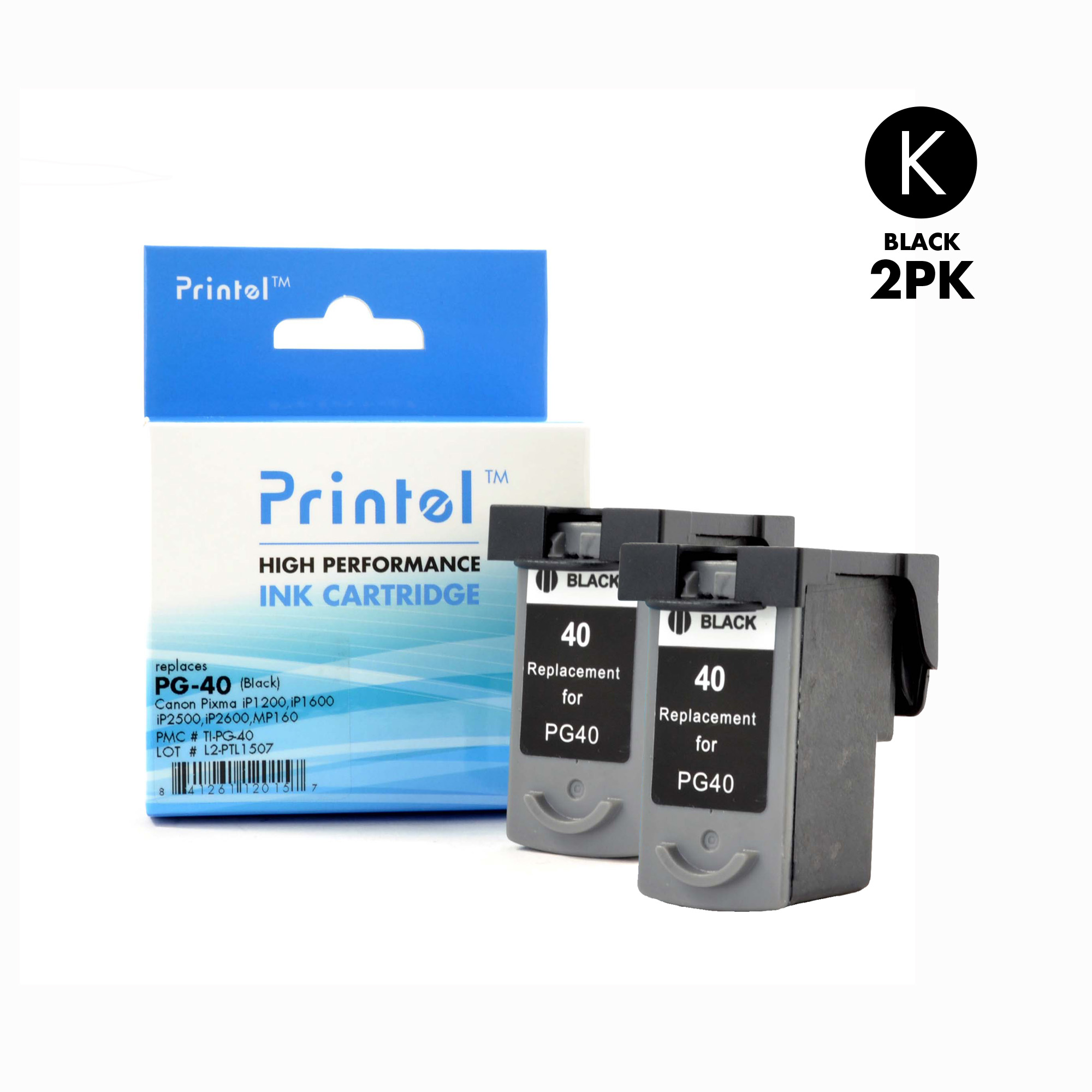 Ink Cartridge Partsmart Canon Cl 57 Original Pg 40 2 Pack Inkjet Replacement For Pixma Fax Jx200 Ip1180 Ip1200 By Printel