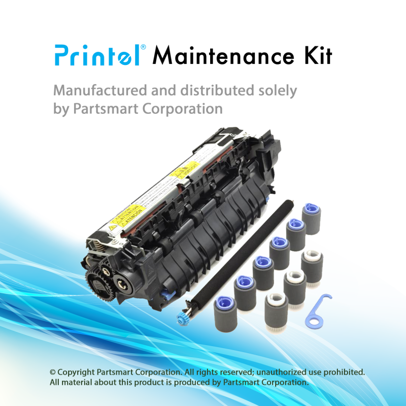 CF064A maintenance kit main image, with 1 Refurbished Fuser Assembly, 110V (RM1-8395), 1 Transfer Roller (RM1-5462), 3 Tray 2 Pickup Rollers (RM1-0036), 6 Tray 2 Feed/Separation Rollers (RM1-0037)