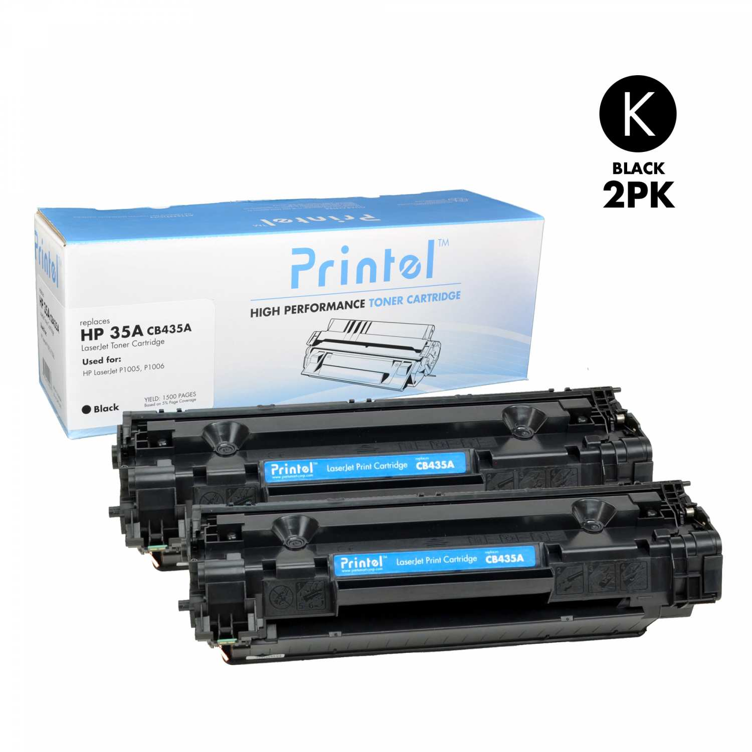 HP 35A (CB435A) Black (2 Pack)