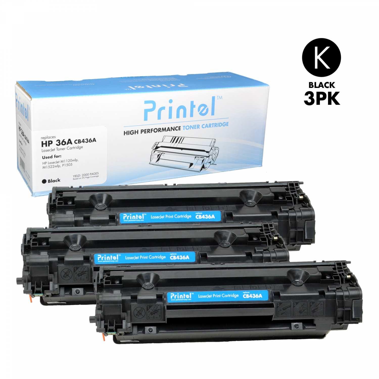 HP 36A (CB436A) Black (3 Pack)