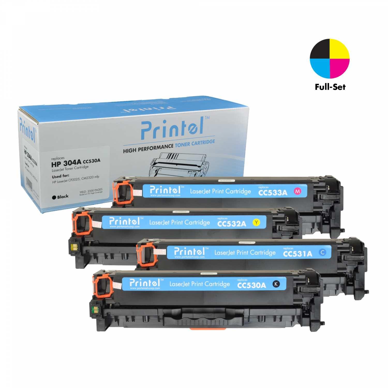 HP LaserJet CP2025 Series: 1 Black CC530A, Cyan CC531A, Magenta CC533A, Yellow CC532A