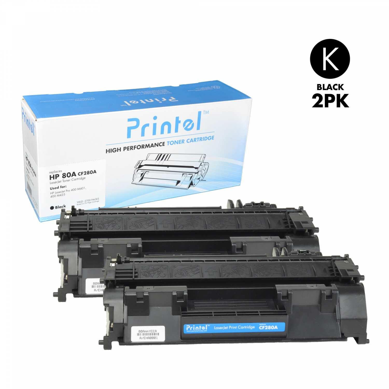 HP 80A (CF280A) Black (2 Pack)