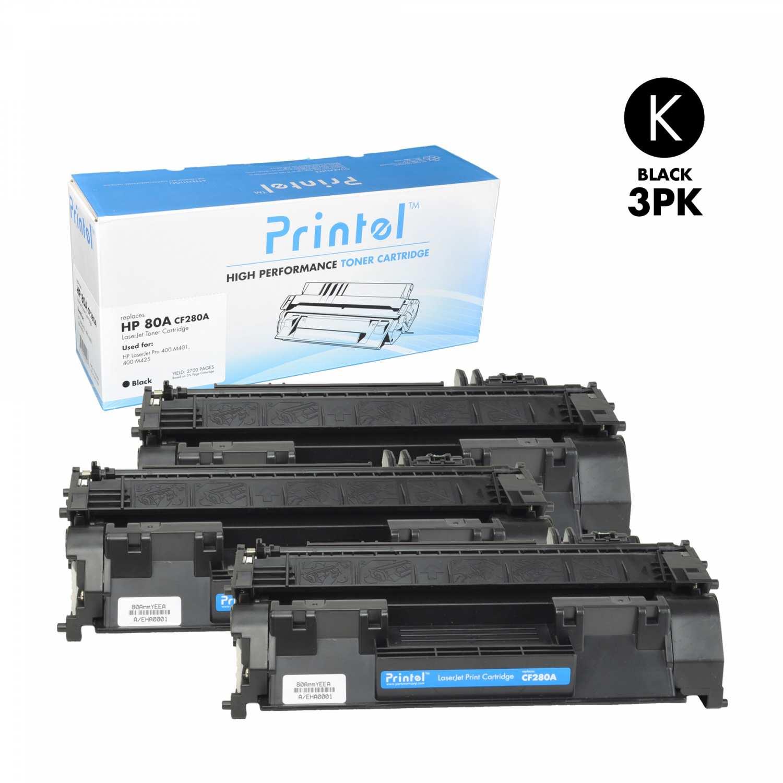 HP 80A (CF280A) Black (3 Pack)