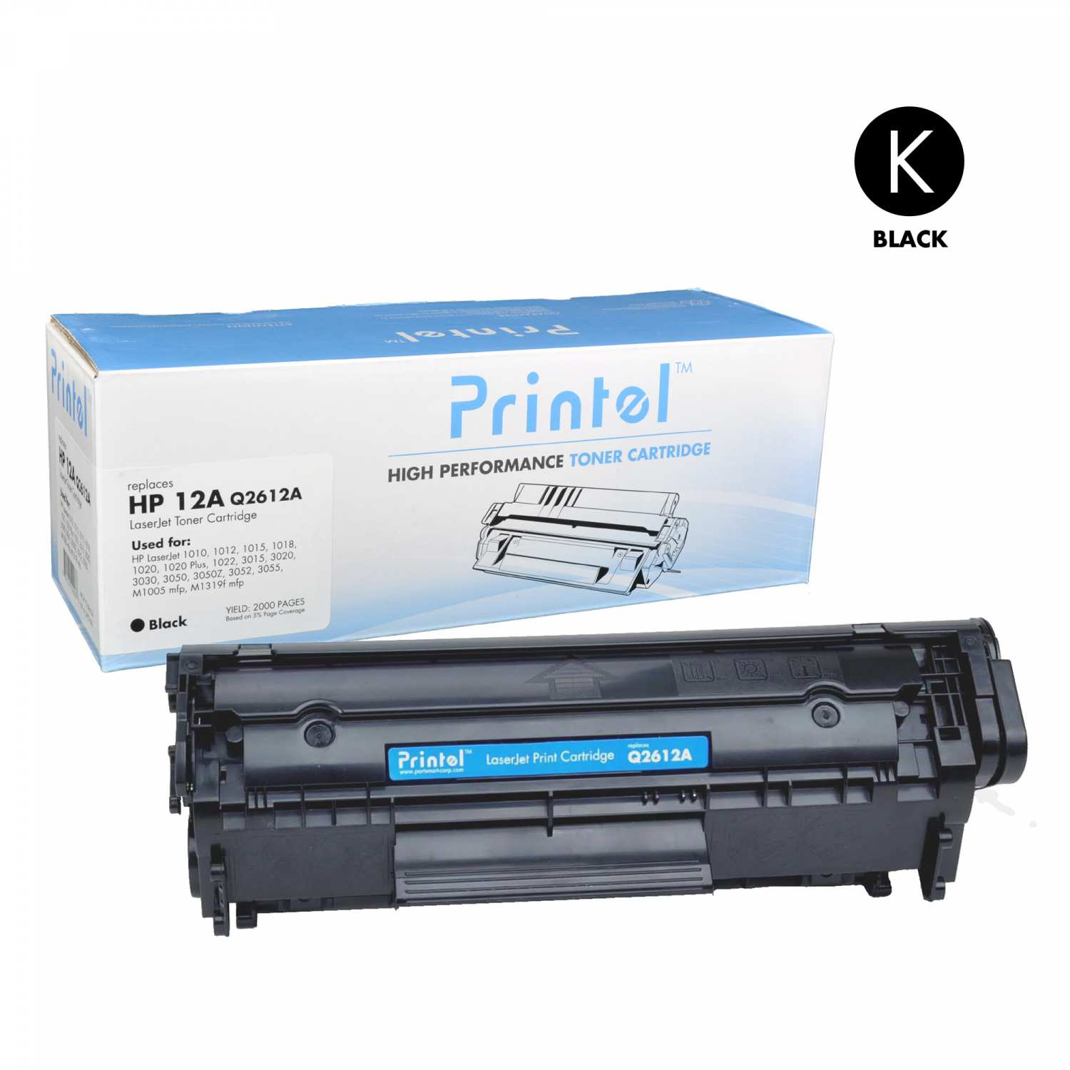 HP 12A (Q2612A) Compatible LaserJet Toner Cartridge Black