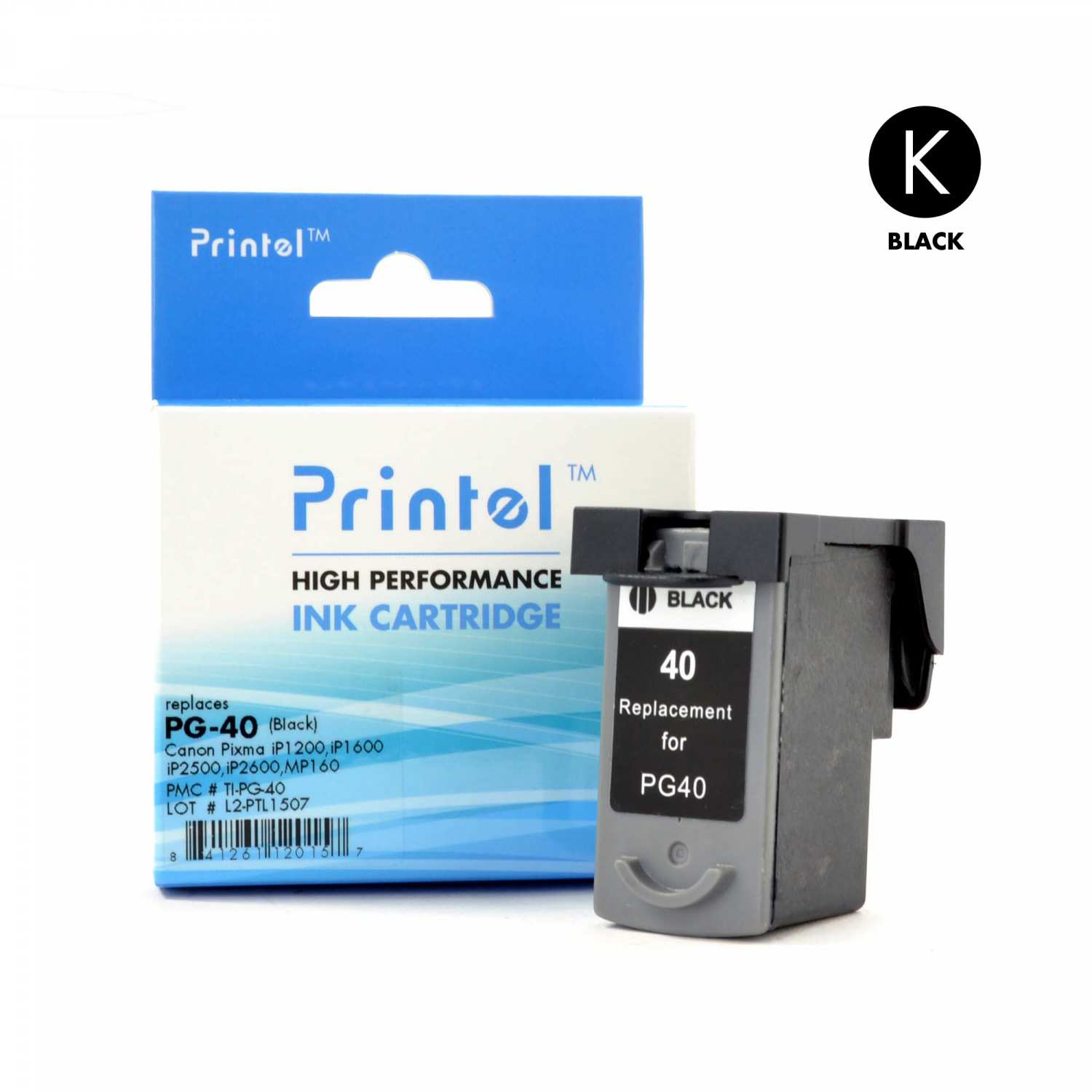 printel remanufactured replacement ink cartridge for canon pg 40 black used with canon pixma mg. Black Bedroom Furniture Sets. Home Design Ideas