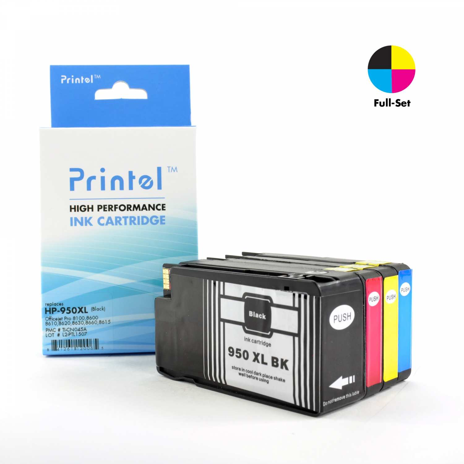printel brand new replacement ink cartridge for hp 950xl 951xl cn045an cn046an cn047an. Black Bedroom Furniture Sets. Home Design Ideas