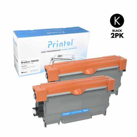 Brother TN420 2 Pack Toner Cartridge used with Brother DCP-7060, Brother DCP-7065, Brother HL-2220, Brother HL-2240