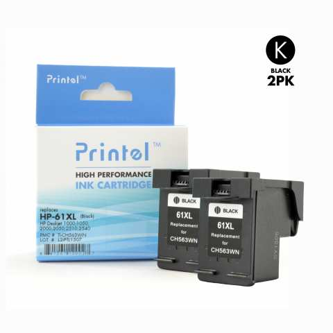 Hp 61xl Ch563wn 2 Pack Inkjet Cartridge Replacement